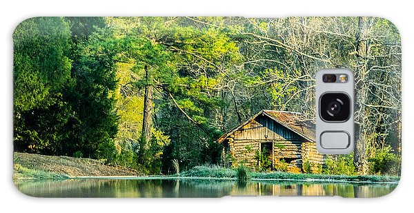 Old Cabin By The Pond Galaxy Case