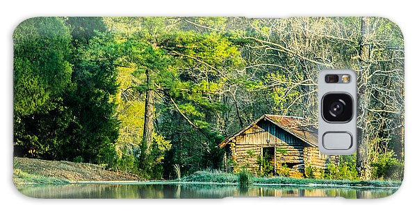 Old Cabin By The Pond Galaxy Case by Parker Cunningham