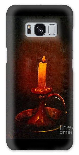 Old Candle Stick Painting Galaxy Case