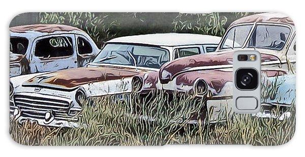 Old Car Graveyard Galaxy Case