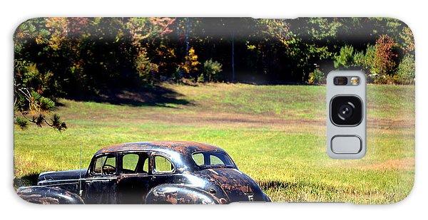 Old Car In A Meadow Galaxy Case