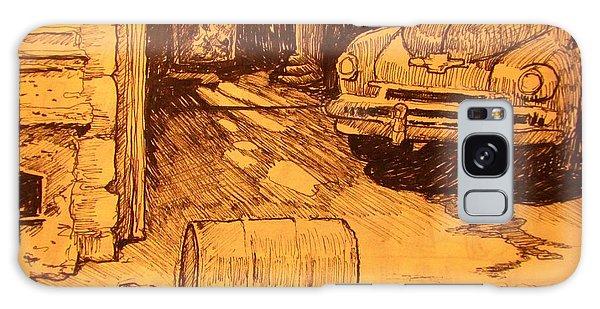 Old Truck Galaxy Case - Old Car In Garage by John Malone