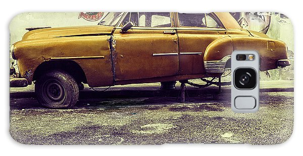 Old Road Galaxy Case - Old Car/cat by Svetlin Yosifov