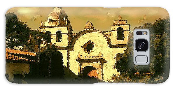 Old Carmel Mission - Watercolor Galaxy Case