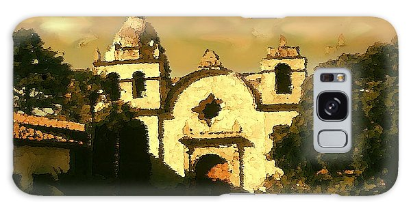 Old Carmel Mission - Watercolor Drawing Galaxy Case by Art America Gallery Peter Potter