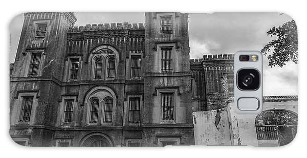 Old City Jail In Black And White Galaxy Case