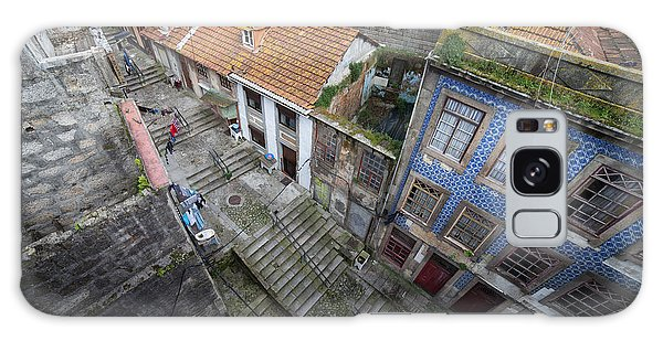 Old City Of Porto In Portugal From Above Galaxy Case