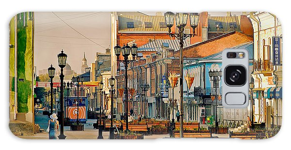 Old City Street Galaxy Case by Vladimir Kholostykh