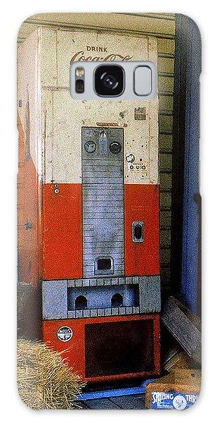 Old Coke Machine Galaxy Case