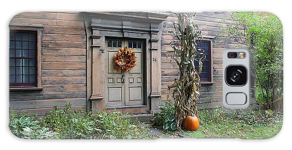 Old Deerfield Ma Doorway In Fall Galaxy Case