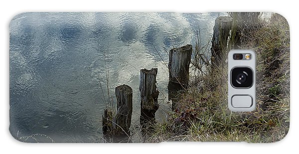 Old Dock Supports Along The Canal Bank - No 1 Galaxy Case by Belinda Greb