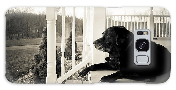 Old Dog On A Front Porch Galaxy Case