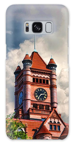 Galaxy Case featuring the painting Old Dupage County Courthouse Clouds by Christopher Arndt