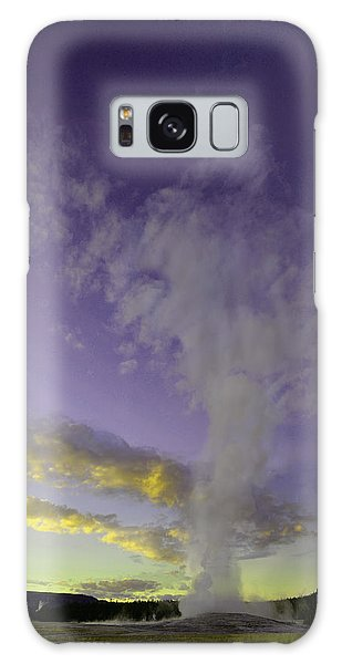 Old Faithful At Sunset Galaxy Case