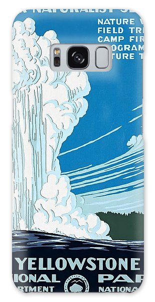 Old Faithful Yellowstone National Park Poster Ca 1938 Galaxy Case