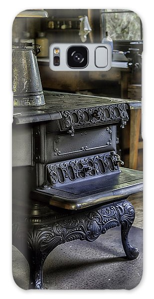 Old Farm Kitchen And Wood Burning Stove Galaxy Case by Lynn Palmer