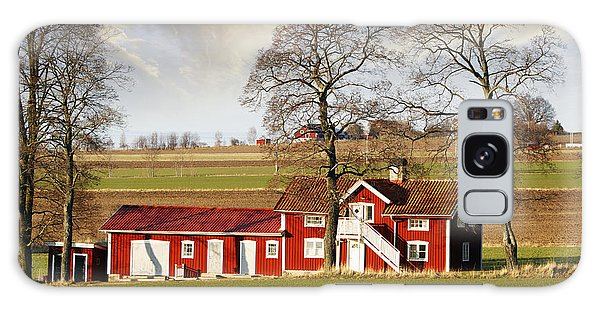 Old Farm Set In A Rural Picturesque Landscape Galaxy Case by Christian Lagereek