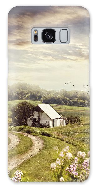 Galaxy Case featuring the photograph Old Farmhouse Down A Country Road by Sandra Cunningham