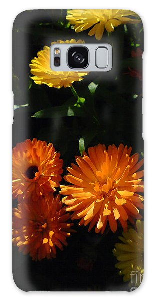 Old-fashioned Marigolds Galaxy Case by Martin Howard