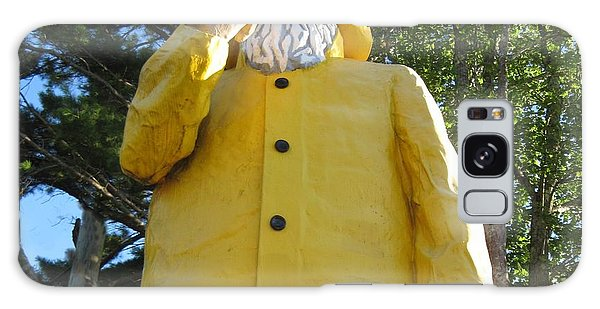 Old Fisherman Statue Boothbay Harbor Maine Galaxy Case by Patricia E Sundik