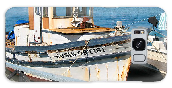 Old Fishing Boat In Sausalito Galaxy Case by Connie Fox