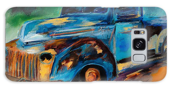 Old Ford In The Back Of The Field Galaxy Case by Elise Palmigiani