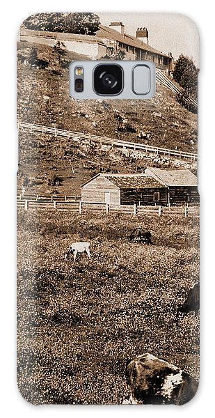 Pasture Galaxy Case - Old Fort Mackinac From The Pasture, Forts & Fortifications by Litz Collection
