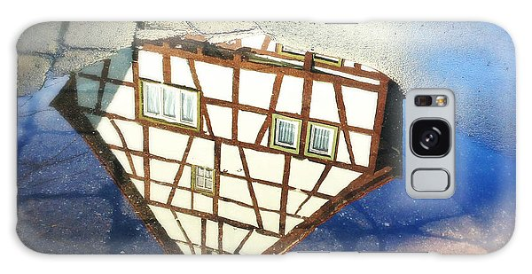 House Galaxy Case - Old Half-timber House Upside Down - Water Reflection by Matthias Hauser