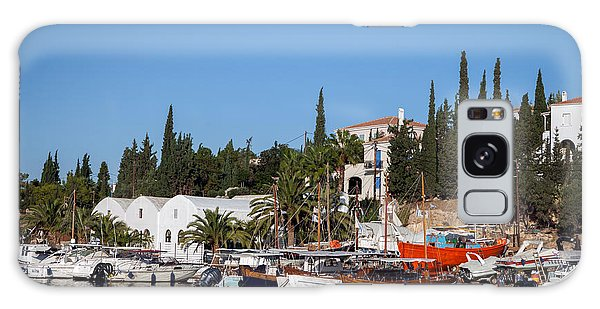 Old Harbour In Spetses Town Galaxy Case