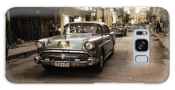 Vintage Cars Galaxy Case - Old  Havana  Street by Alper Uke