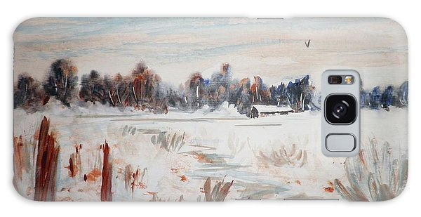 Old Homestead In Winter Galaxy Case by Suzanne McKay