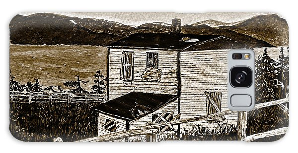 Old House In Sepia Galaxy Case