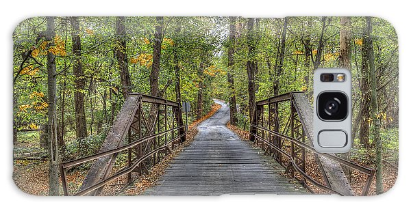 Old Iron Bridge At Panther Creek Galaxy Case by Wendell Thompson