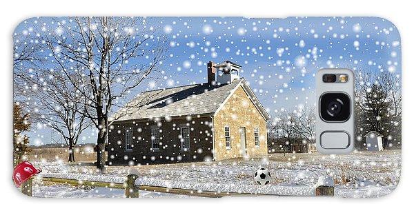 Old Kansas Schoolhouse Galaxy Case by Liane Wright