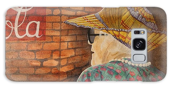 Old Lady With Hat Galaxy Case by Paul Amaranto