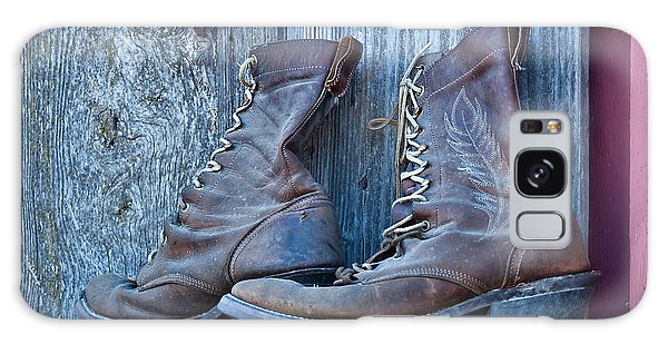 Old Leather Boots Still Life Galaxy Case