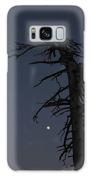 Old Man And Moon Galaxy Case by Randal Bruck