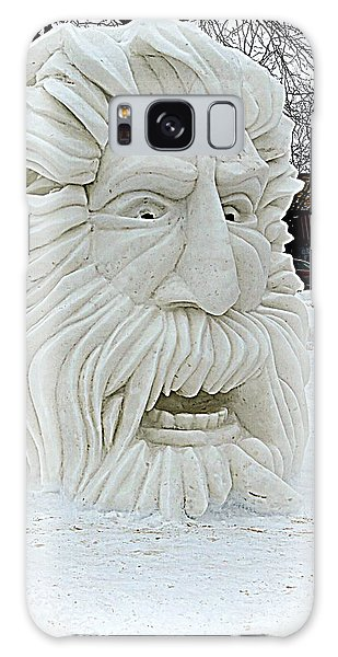 Old Man Winter Snow Sculpture Galaxy Case by Kay Novy