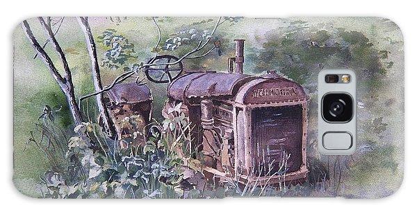 Old Mccormick Tractor Galaxy Case by Susan Crossman Buscho
