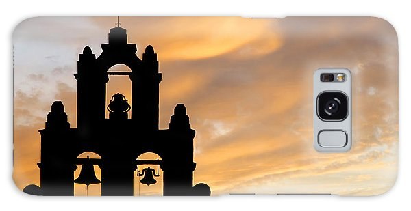 Old Mission Bells Against A Sunset Sky Galaxy Case