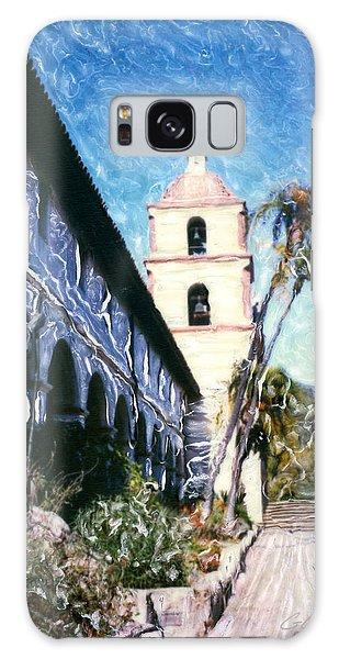 Old Mission Santa Barbara Walkway Galaxy Case