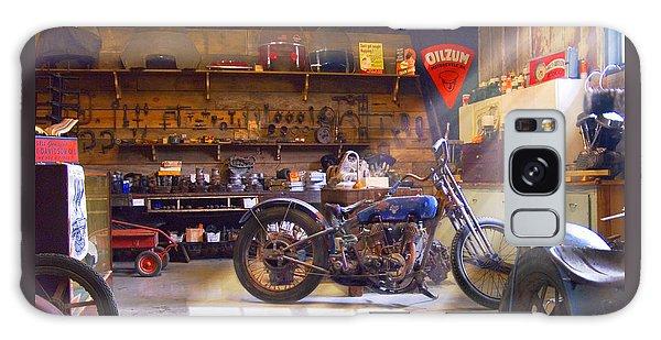 Old Motorcycle Shop 2 Galaxy Case