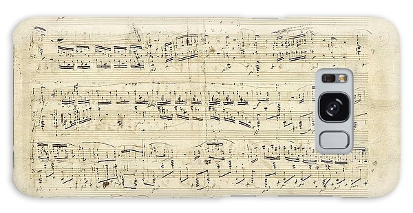 Old Music Notes - Chopin Music Sheet Galaxy Case by Tilen Hrovatic