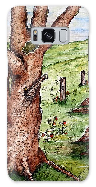 Old Oak Tree With Birds' Nest Galaxy Case