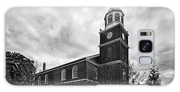 Old Otterbein Church In Black And White Galaxy Case by Bill Swartwout