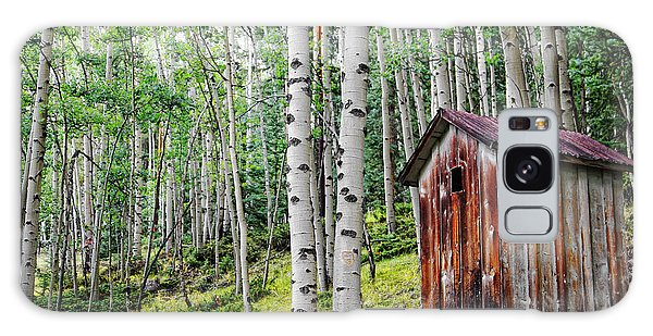 Old Outhouse Among Aspens Galaxy Case