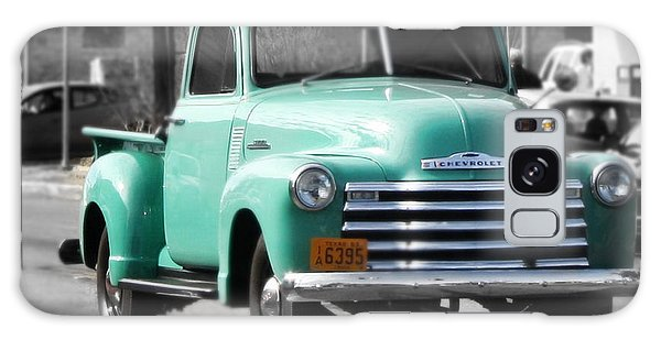 Old Pickup Truck Photo Teal Chevrolet Galaxy Case