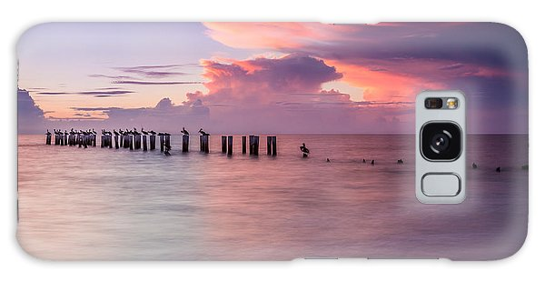 Old Naples Pier Sunset Galaxy Case