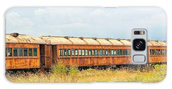 Old Railroad Passenger Cars Galaxy Case