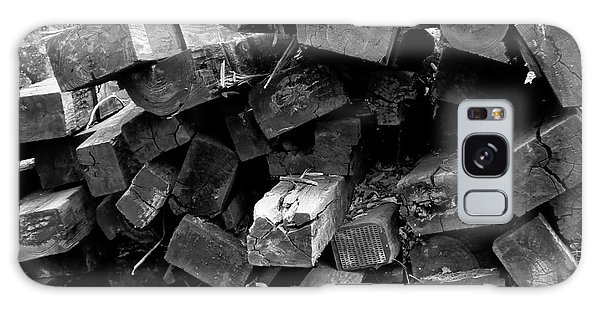 Galaxy Case featuring the photograph Old Railroad Ties by Kristen Fox